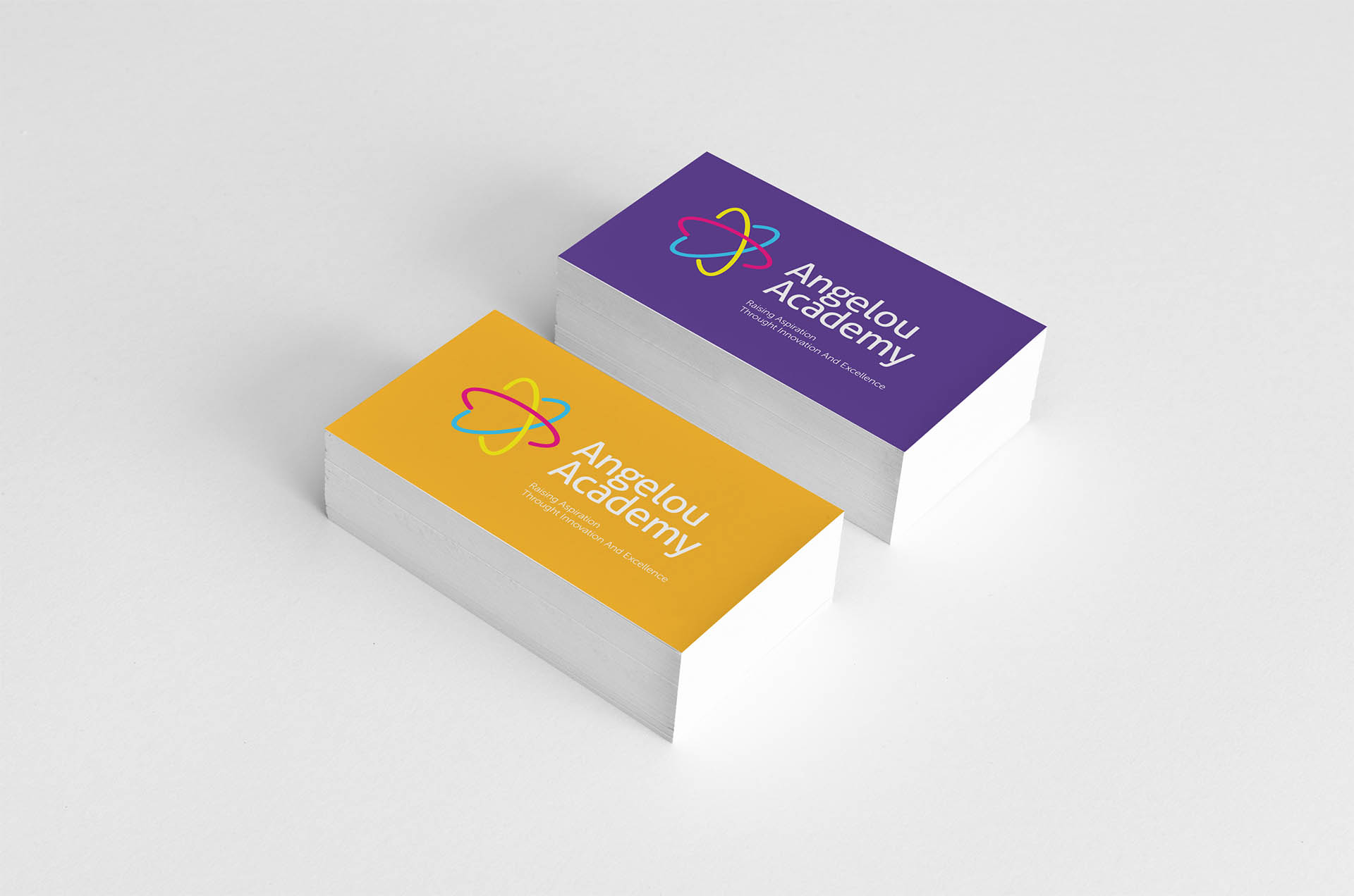 angelou academy business cards